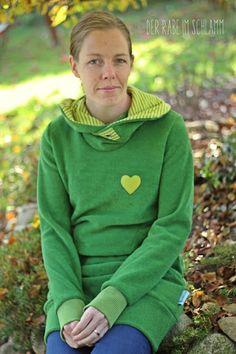Der Rabe im Schlamm: MaLou aus Frottee - grün grün grün
