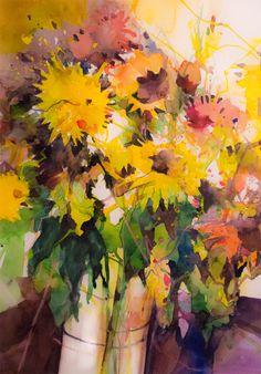 Herbstblumen Angela Tatli #Blumenaqaurelle