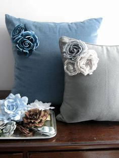 Corner Flower Pillows