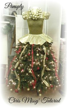 Panoply: 'Chris Missy' Christmas Holiday ballgown Tree Tutorial