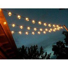 globe lights for backyard
