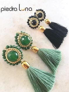 Tassel Earrings, Beaded Bracelets, Evil Eye Earrings, African Jewelry, Jewerly, Macrame, Tassels, Handmade, Outfits
