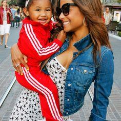 Natural hair kids Christina Milian and her babygirl