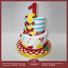 Peter loves both fruit and cake, so we made him a fruity cake! #cakesandcookieslb #cake #cakes #birthdaycake #delicious #chocolate #dessert #sweet #birthday #sugarart #Lebanon