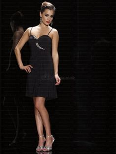 A-Line One-Shoulder Short/Mini Chiffon Backless Black Cocktail Dress with Ruffles LVPD80891