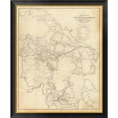 Global Gallery Civil War - White House To Harrisons Landing, 1862 by Henry L. Abbot Framed Graphic Art on Canvas Size: