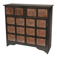 Hand Rubbed Walnut Finish Accent Chest (Accent Chest), Brown