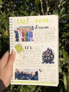 Bullet Journal Notes, Bullet Journal Aesthetic, My Journal, Journal Pages, Journals, Kpop, Foto Snap, Nct, Drawing Journal