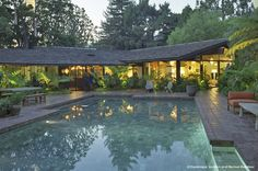 oakmont residence    Originally designed by Cliff May in 1956, the Oakmont Residence exemplifies California Ranch Style through its spacious plan, expansive windows and low gable roofline.