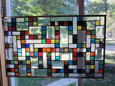 Temptation Stained Glass Window Panel Abstract Geometric EBSQ Artist