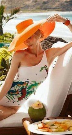 Pop of orange Summer Sun, Summer Beach, Summer Time, Summer Dream, Summer Feeling, Glamour, Summer Memories, Chanel, Tropical Paradise