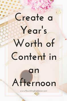 Content Generation Hack - Create a year's worth of content today
