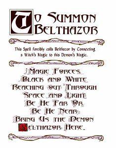Charmed Series Book of Shadows: Belthazor Summoning Spell Sigil Magic, Magic Symbols, Wiccan Symbols, Wiccan Spells, Magic Spells, Witch Spell Book, Witchcraft Spell Books, Demon Summoning Spells, Karma Spell