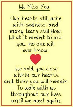 To our son in heaven