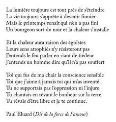 Paul Eluard (Dit de la force de l'amour)