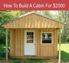 Place your ad here Loading... If you want to build a cabin or shed on the cheap, then this article might be for you. There are lots of helpful photos documenting the building process. Make sure to read the commentary at the end because the comments are quite informative and offer many helpful critiques and …