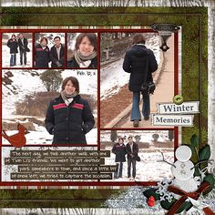 Frosty Fun at the Park (right) - Scrapbook.com