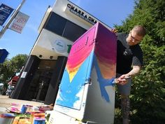 Hackensack artists turn ordinary utility boxes into masterpieces - Johnny Newcomb of Bergenfield, Artist and Tattoonist,