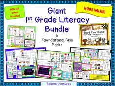 A HUGE VALUE! Five popular products bundled together and offered at 30% off of the individual price! You can't go wrong. - 1st & 2nd Grade Karate Compound Word Divide (48 pages) - Silent E Activities for Firsties (26 pages) - Digraph Activities: Ch/Sh/Th/Wh/Ph (40 pages) - Using Mentor Texts to Promote Literacy: End Punctuation in Sentences (Common Core Aligned) 27 Pages - Word Thief Game: HFW (Fry's first 200)