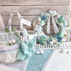 Vence, Basket Decoration, Easter, Wreaths, Ornaments, Spring, Ideas, Log Projects, Baskets