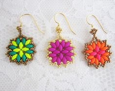 Sunset Ombre Earrings made to order