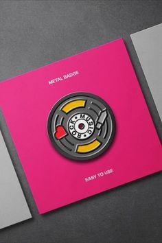 Metallic Enamel Pin Mockups Free Photoshop, Free Graphics, Mockup Templates, Pin Badges, Textured Background, Metallic, Enamel, Copper, Miniatures