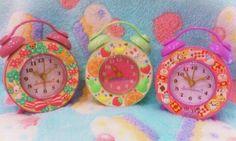 kawaii colorful clocks