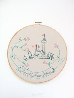 Hey, I found this really awesome Etsy listing at https://www.etsy.com/listing/166992748/nursery-embroidery-hoop-art-happily-ever