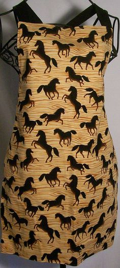 Childs Apron  Horses by artisticsouldesigns on Etsy