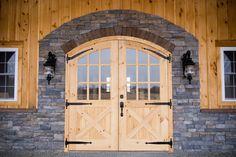 Decorative metal straps on doors; oil rubbed bronze door fixtures