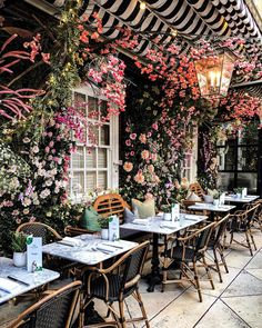 Restaurant Guide ✨ See where we're dreaming of dining al fresco via the link in our bio – and and share your favorite spots below! Restaurant En Plein Air, Deco Restaurant, Modern Restaurant, Shabby Chic Restaurant, Restaurant Guide, Small Restaurant Design, Coffee Shop Design, Cafe Design, Bistro Design