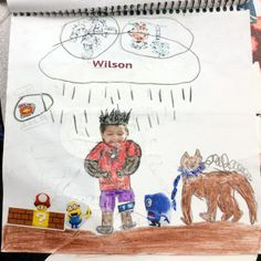 This page includes a photo of the artist's little brother, and was created by a Santa Ana student.