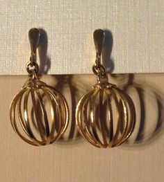 Trifari Clip On Gold Tone Basket Weave by vintagerepublic1 on Etsy, $16.00