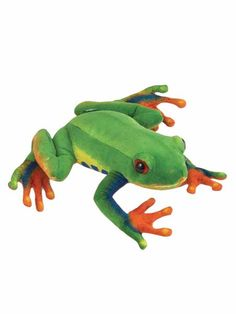 WHAT'S INCLUDED: From a realistic design and distinctive facial markings, this Red-eyed Tree Frog stuffed animal is simply irresistible! This plush Red-eyed Tree Frog is huggable, hand-washable, soft, shed-free and made from high quality acrylic, polyester and stitching to ensure added safety!  	 DIMENSIONS: Measuring at 9 inches, our adorable Red-eyed Tree Frog stuffed animals are comfortable and soft to the touch! The perfect size for at home and take on the go play!  	 MULTI-PURPOSE…