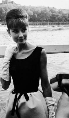 Audrey Hepburn in Paris, France at a media junket for the film...