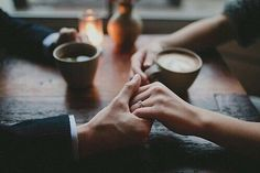Would love to be enjoying a morning coffee... Holding hands... Smiling and just staring into her eyes... Mmmm