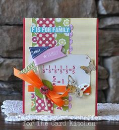 F is for Family Card by Amy Sheffer for the Card Kitchen Kit Club using Feb. 2014 Card Kitchen Kit