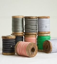 Vintage Spools of Ribbon