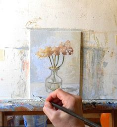 How about some white wild flowers for your country cottage?  Painted in #Umbria Italy by BarraganPaintings, €55.00