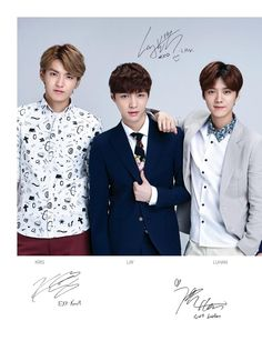 Twitter / SMTownFamily: {PROMO} 140331 Exo in Lotte Duty Free Style Magazine Update for April 2014: Kris, Lay, Luhan