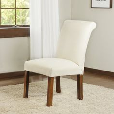 Easy no-sew method for re-covering a dining chair WITHOUT a sewing machine!