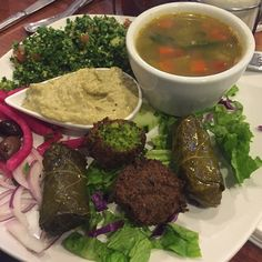 Hummus House Mediterranean Plate. Let's find out what it's… by @chefahki - Square Pics #Mediterraneanplate #hummusplate