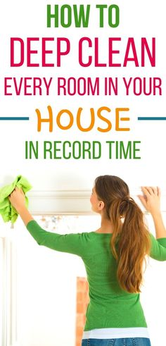 4 Hacks That Will Make You a House Cleaning Genius How to deep clean your house in a day. Easy home deep cleaning tips to help you clean your house fa Deep Cleaning Tips, Household Cleaning Tips, Cleaning Recipes, Diy Cleaning Products, Cleaning Solutions, Cleaning Hacks, Cleaning Supplies, Room Cleaning Tips, Deep Cleaning Schedule