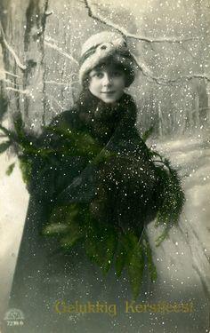 Vintage Christmas Card - 1920 by gill4kleuren, via Flickr