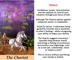 THE CHARIOT #tarotcardmeaning #chariot