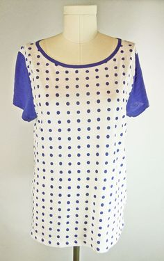 173a62c0 Details about J Crew Polka Dot T-Shirt XL New With Tag Short Sleeve Cotton