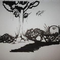 Un camino... Gracias!!.oOo.  20160426.#117.Caro.Co  #365ilustraciones #365dibujos #ilustracion #iloveit #whishes #mty #concept #conceptart #mexico #draw #drawing #doddle #abril #inspiracion #garabato #ILUSTRACION #doddle by theberecca