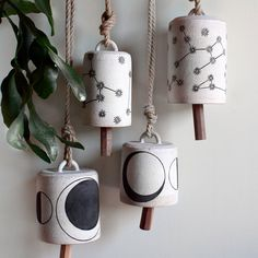 Ceramic bells - Great Gifts for Gardeners - Sunset