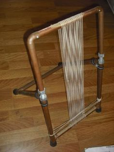Archie-Brennan-Type-Tapestry-Weaving-Loom-with-Instructions-Copper-Tabletop