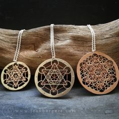 Metatron's Cube pendants - 20% off until 16th sept - Small Metatron's Cube pendant, Large Metatron's Cube pendant, and Metatron's Cube Flower of Life pendant - handcut sterling silver, oxidised copper...